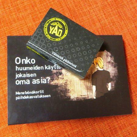 Korttipaketti (Oma asia? + Väitteitä päihteistä)